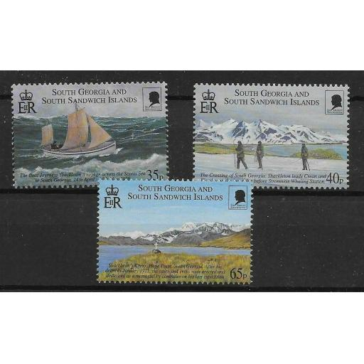 S.GEORGIA & S.SANDWICH IS. SG312/4 2000 SHACKLETON EXPEDITION MNH