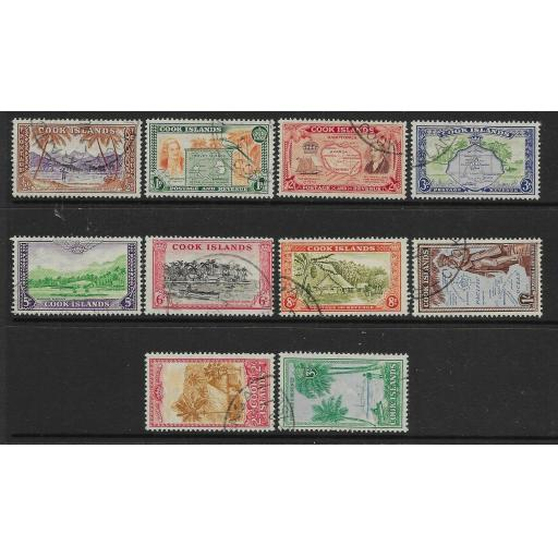 COOK ISLANDS SG150/9 1949 DEFINITIVE SET USED