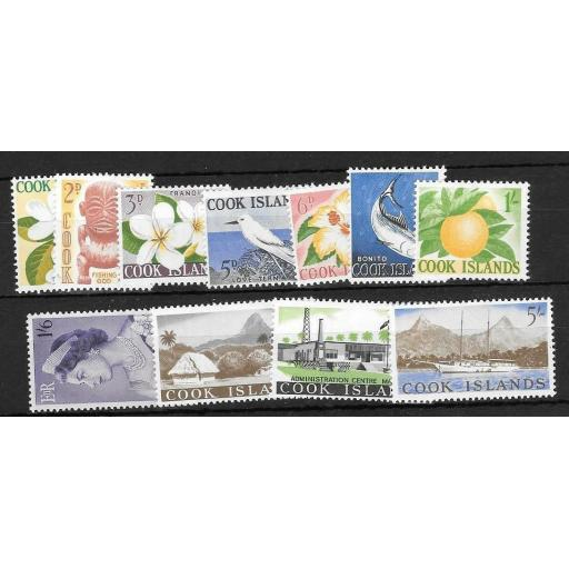 COOK ISLANDS SG163/73 1963 DEFINITIVES MNH