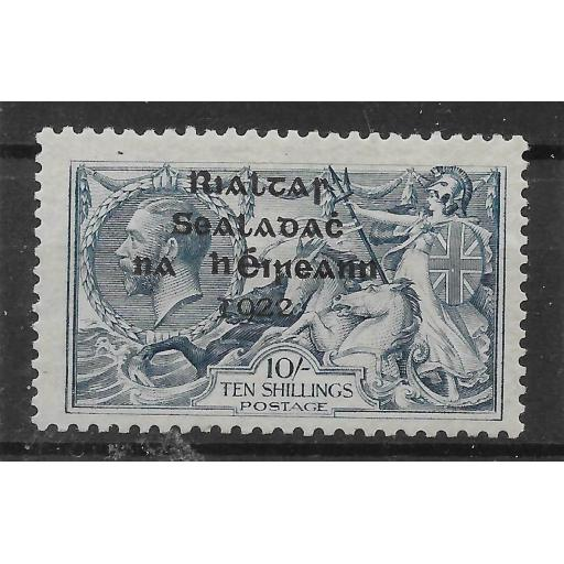 IRELAND SG21 1922 10/= DULL GREY-BLUE MTD MINT