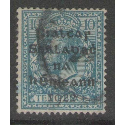 IRELAND SG9 1922 10d TURQUOISE-BLUE USED