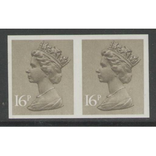 GB SGX949a 1983 16p OLIVE-DRAB IMPERF PAIR MNH