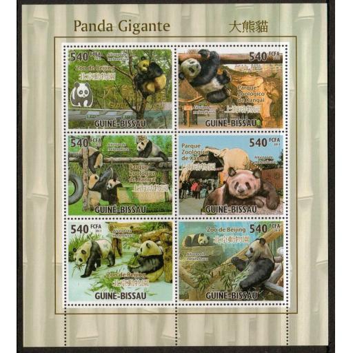 G.BISSAU 2011 GIANT PANDA SHEETLET MNH