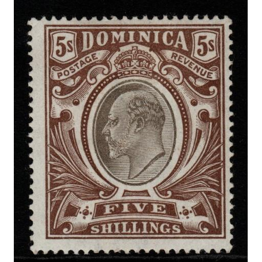 DOMINICA SG36 1903 5/= BLACK & BROWN MTD MINT