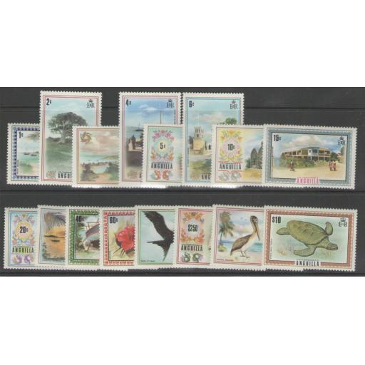 ANGUILLA SG130/44a 1972-5 DEFINITIVE SET MNH