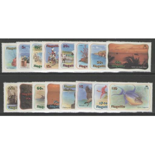 ANGUILLA SG485/500 1982 DEFINITIVE SET MNH