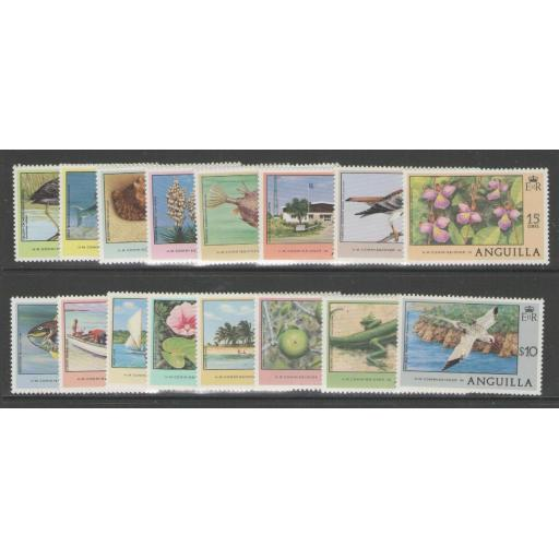 ANGUILLA SG274/89 1977-8 DEFINITIVE SET MNH