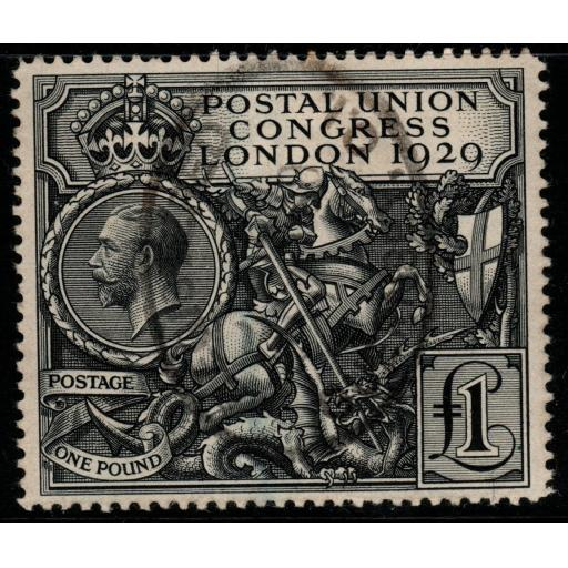 GB SG438 1929 PUC £1 BLACK FINE USED