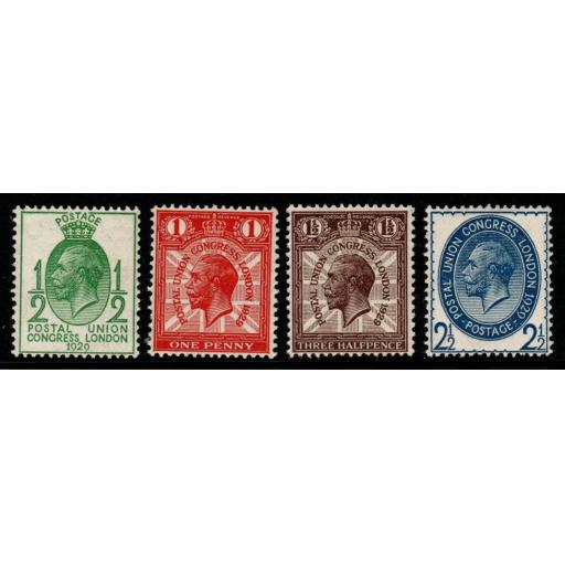 GB SG434/7 1929 PUC LOW VALUES MNH