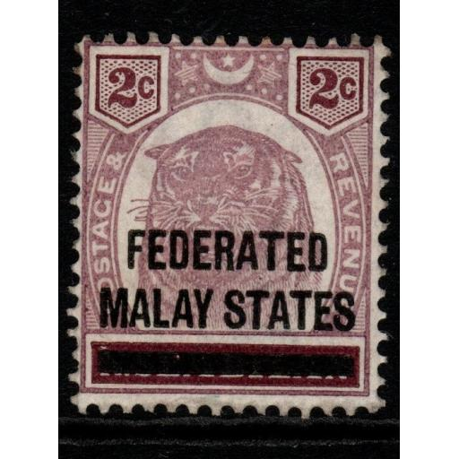 MALAYA FMS SG2 1900 2c DULL PURPLE & BROWN MTD MINT