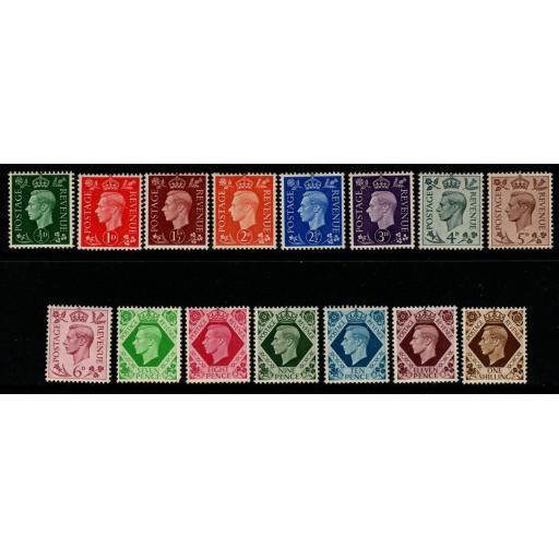 GB SG462/75 1937-47 DEFINITIVE SET MNH