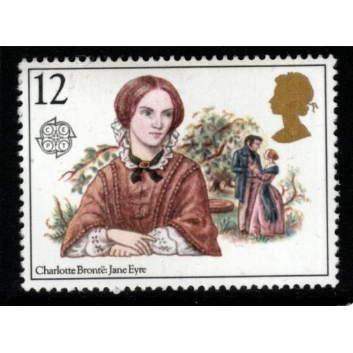 "GB SG1125Ea 1980 12p FAMOUS WOMEN WITH MISSING ""p"" IN VALUE MNH"