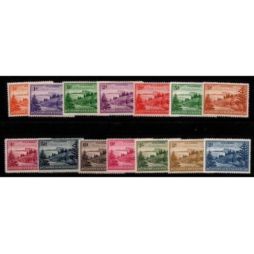 NORFOLK ISLAND SG1/12a 1947 DEFINITIVE MTD MINT