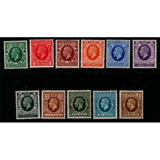 GB SG439/49 1934-6 PHOTOGRAVURE SET MTD MINT