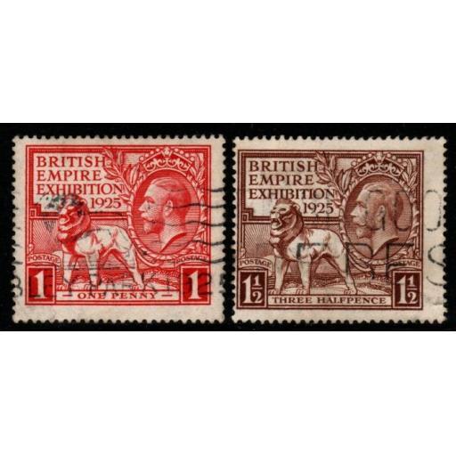 GB SG432/3 1925 WEMBLEY USED