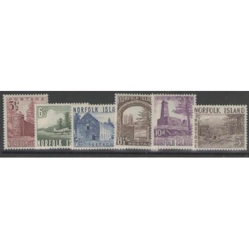 NORFOLK ISLAND SG13/8 1953 DEFINITIVE MTD MINT