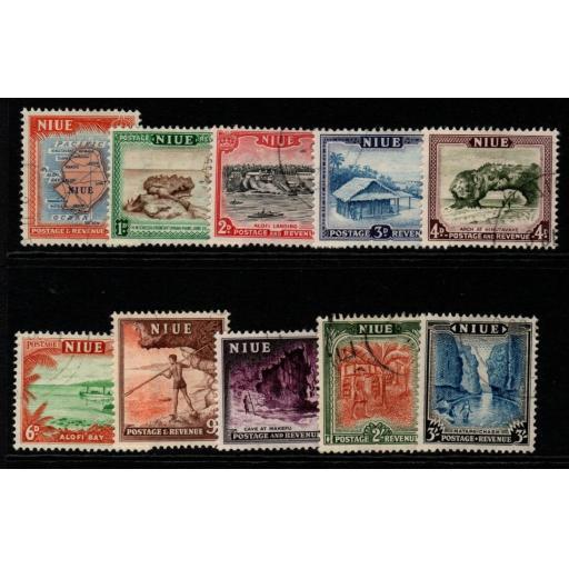 NIUE SG113/22 1950 DEFINITIVE SET FINE USED