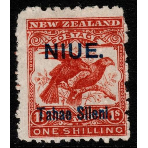 NIUE SG15 1903 1/= BROWN-RED(TAHAE JOINED) WITH RPS CERT MTD MINT