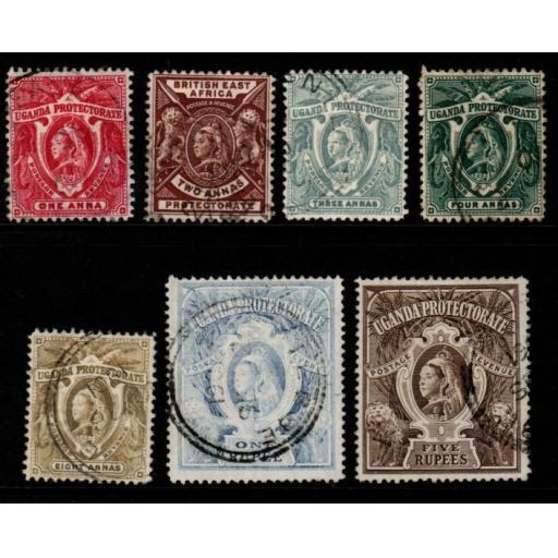UGANDA SG84/91 1898-902 DEFINITIVE SET USED
