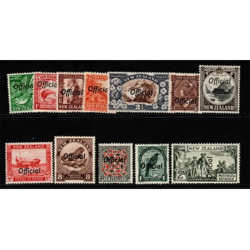NEW ZEALAND SGO120/32 1936 OFFICIAL SET TO 2/= UNUSED