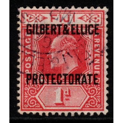 GILBERT & ELLICE IS. SG2 1911 1d RED FINE USED